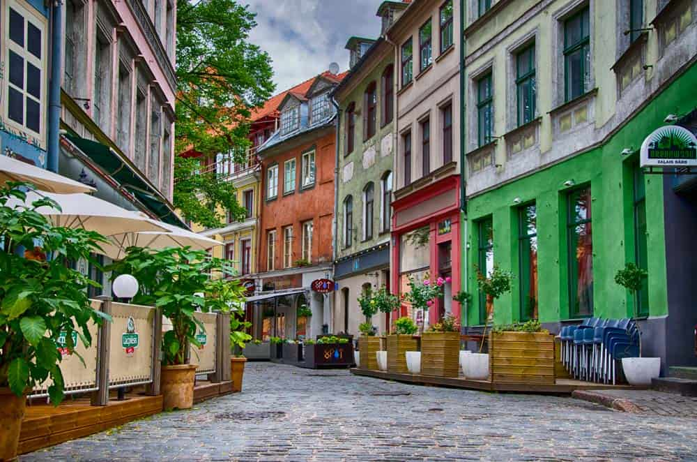 Colourful Building in Old Town Riga, Latvia