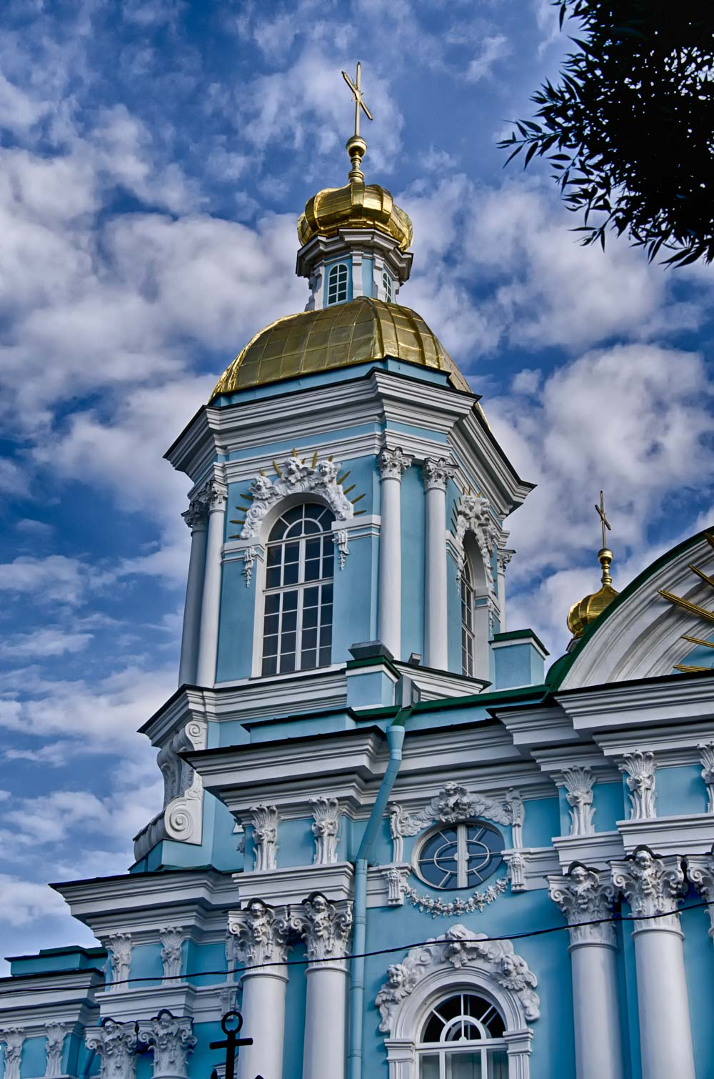 St Nicholas Naval Cathedral in St Petersburg, Russia