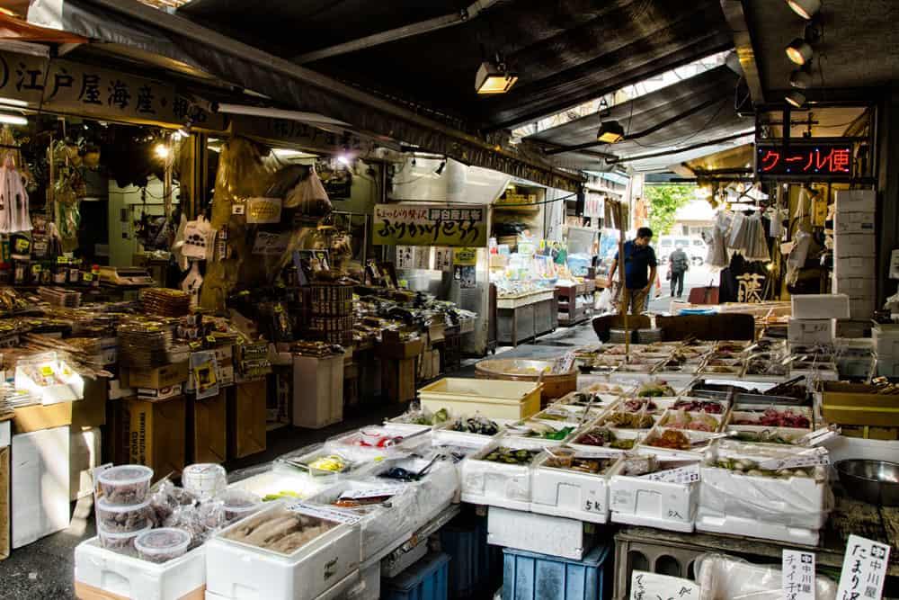 Inner Market at Tsukiji Fish Market in Tokyo