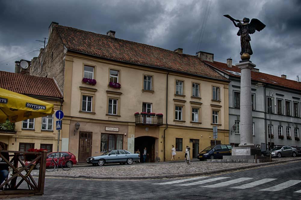 Main Square in Užupis Republic, Vilnius, Lithuania